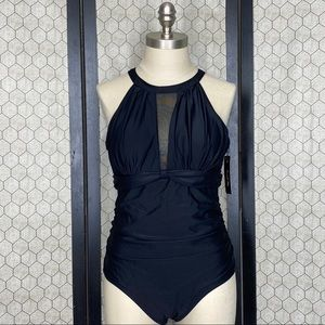 Tempt Me High Neck Swimsuit